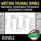 Writing Foldable Bundle Narrative, Literary Analysis, Pers