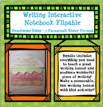 Writing Foldable for Interactive Notebook - Hamburger Essay