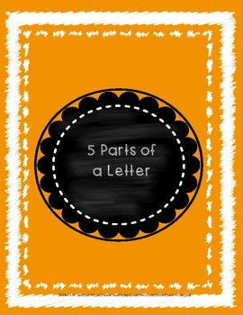 Writing Folder - 5 Parts of a Letter