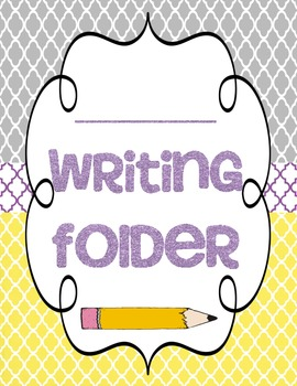 Writing Folder Cover by Just A Primary Girl | Teachers Pay Teachers