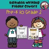 Writing Folder Cover! Editable!