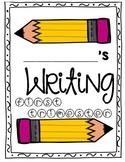 Writing Folder Cover for each trimester