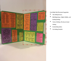 WRITING Folder Fort Partition Figurative Language Traits Transitional Phrases