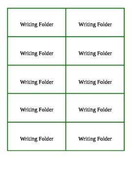 Writing Folder Label