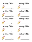 Writing Folder Label