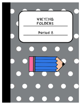 Writing Folder Label Period1-8
