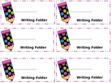Freebie!!--Writing Folder Labels