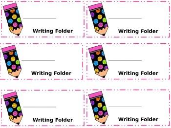 Freebie!!--Writing Folder Labels
