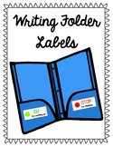 FREE Writing Folder Labels (Go and Stop)