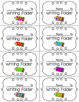 Writing Folder Labels {Editable}