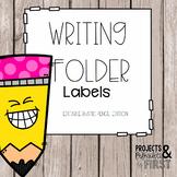 Writing Folder Labels: Rustic Pencil Faces