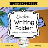 4 Pocket Writing Folder: Labels, Reference Cards, Assembly Instructions.