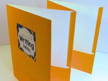 4 Pocket Writing Folder: Labels, Reference Cards, Assembly Instructions.