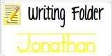 Writing Folder Labels1