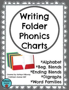 Writing Folder Phonics Charts