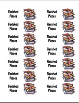 Writing Folder Stickers