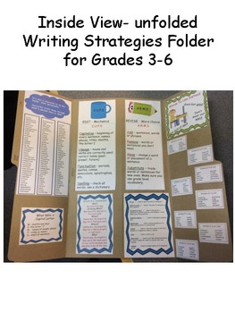 Writing Folder for Grades 3-6