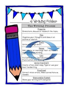 Writing Folder or Interactive Notebook