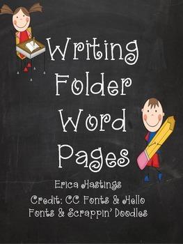Writing Folders