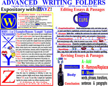 Advanced Expository, Editing, Revising, & Vocabulary Writing Guides in English