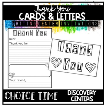 Writing For Real: Thank You Letters & Cards