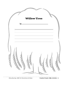 Writing Forms: Kittens, Motorcycle, Willow Tree, Storm