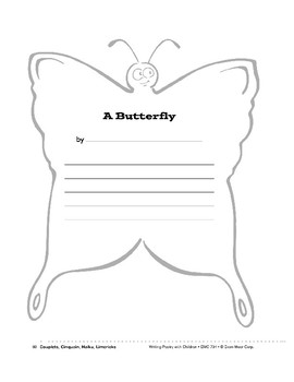 Writing Forms: Old Car, Butterfly, Bubbles, Spaceship