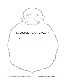 Writing Forms: Old Man with Beard, Knight, Cowboy, Space Alien
