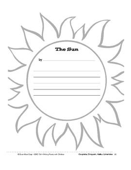 Writing Forms: Sun, Birds, Rain, Clown