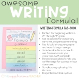Writing Formula Lesson and Tab-Book | Awesome Writing Form