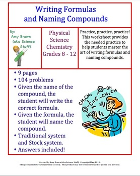 writing formulas and naming compounds homework by amy brown science. Black Bedroom Furniture Sets. Home Design Ideas