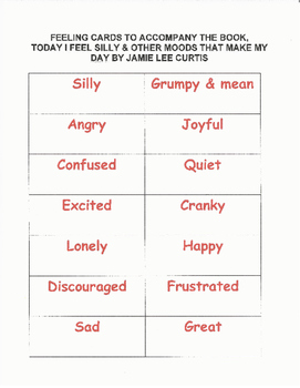 """Writing Four Square - """"How Do You Feel Today?"""""""