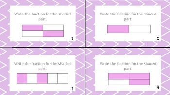 Writing Fractions Task Cards