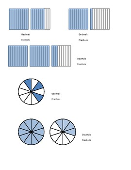 Writing Fractions and Decimals from Pictorial Models