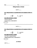 Writing Fractions as Decimals Guided Practice Worksheet