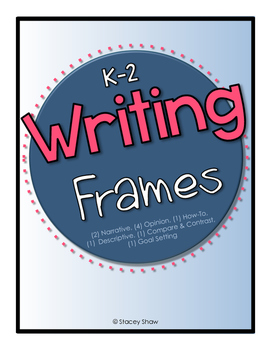 Writing Frames (Stems) Templates - K-2 Common Core Aligned