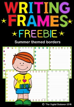 Writing Frames (Summer Themed Borders) FREEBIE - 35 printables