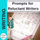 Writing Prompts for Reluctant Writers, Interventions, ELL, Sp. Ed. K and 1