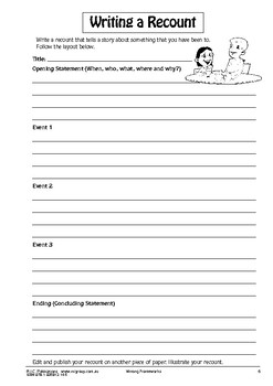 Writing Frameworks – Ages 8-10