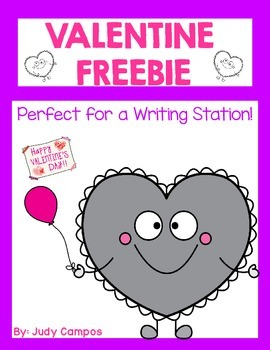 Writing Freebie For Valentine's Day