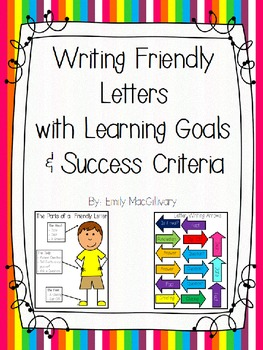 Letter Writing With Learning Goals And Success Criteria