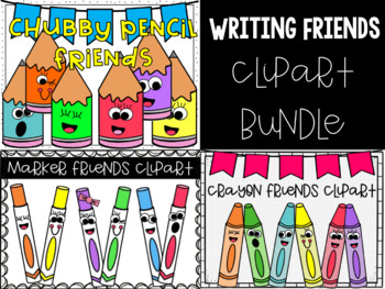 Writing Friends Clipart Bundle