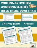 Writing Activities: Worksheets to Learn How to Avoid Cliches