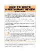 Informational Writing Fun: How To Write a Restaurant Review (9 pages, $5)