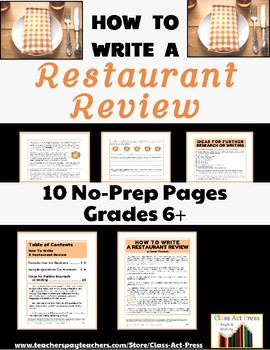 Informational Writing: How To Write a Restaurant Review