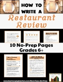 Informational Writing Fun: How To Write a Restaurant Review