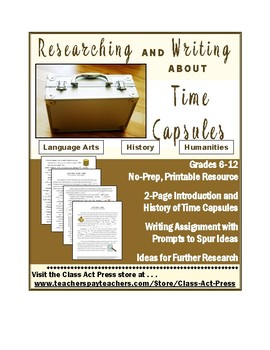 Informative Writing: Researching and Writing about Time Ca