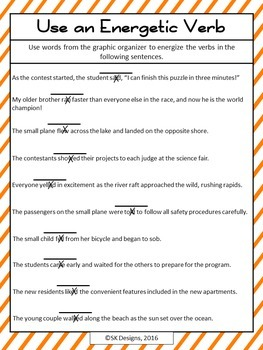 Writing Composition Word Choice Verbs, Vocabulary Synonyms Practice Printables