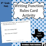 Writing Function Rules Card Activity (8.5B, 8.5I)