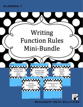 Writing Function Rules Mini-Bundle